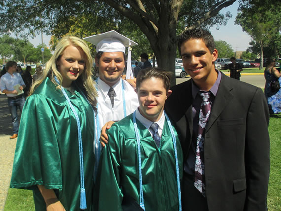 lacey clultts cj banks abe and james mason post graduation 7-24-14